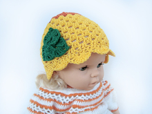 Crochet Pattern Yellow girls hat
