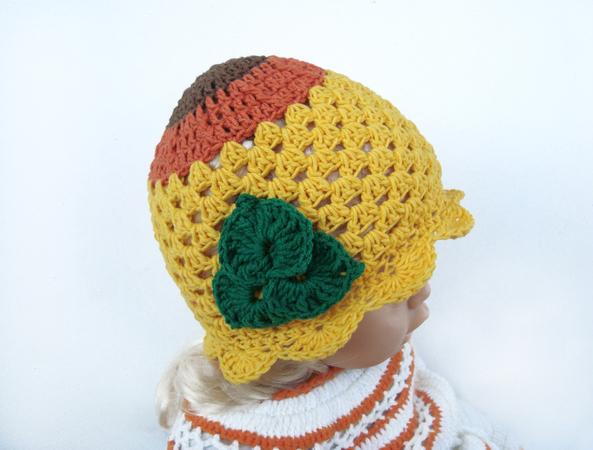 07a7c0aec0e Crochet Pattern Yellow girls hat