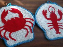 Shellfish Potholders PDF Pattern