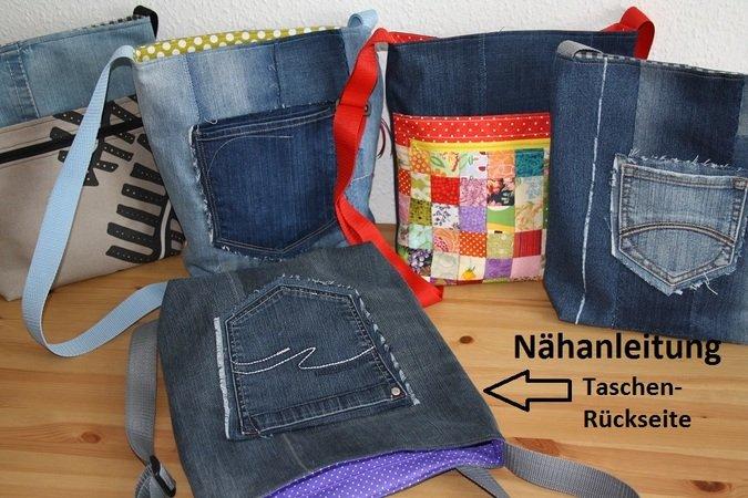 Tasche Nahen Jeanstasche Reissverschlusse