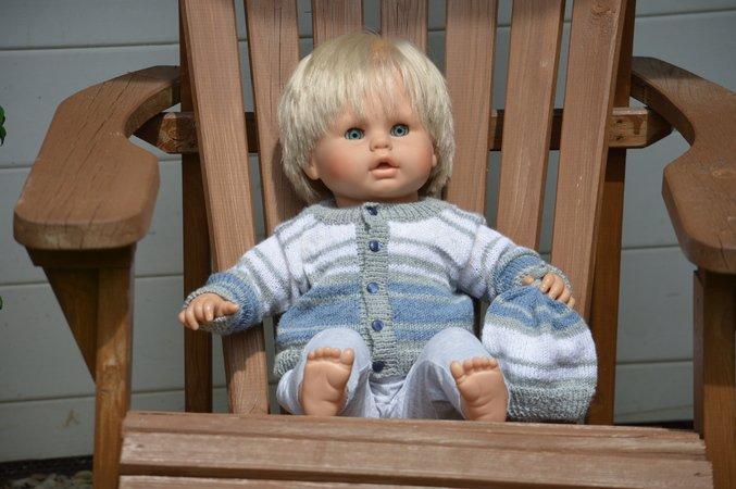 Ordentlich Reborn Baby Strickjacke Mit Mütze Puppen & Zubehör