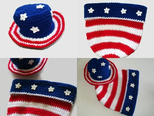 4th July Baby Cocoon Pattern