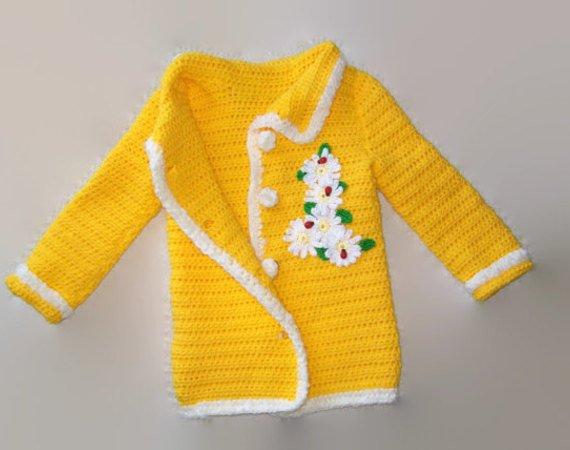 Girls Crochet Sweater Pattern