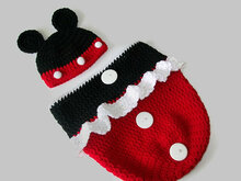 Minnie Mouse Cocoon, Baby Crochet Pattern, Baby Bunting Bag Pattern