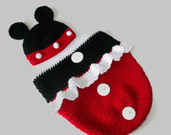 Minnie Mouse Cocoon Baby Crochet Pattern Baby Bunting Bag Pattern