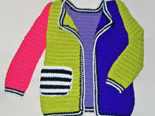 Girls Sweater Coat Crochet Pattern, Sweater for Girl, Crochet Sweater Pattern