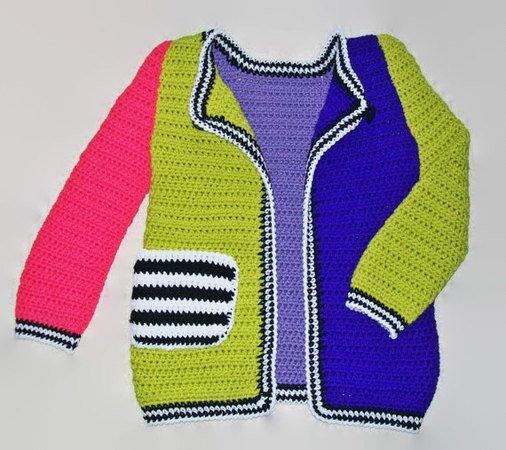 Girls Sweater Coat Crochet Pattern, Sweater for Girl, Crochet ...