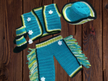 Crochet Pattern Baby Western Clothes for boys