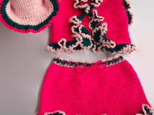 Toddler Cowgirl Crochet Pattern, Toddler girl costume, Cowgirl suit for girl