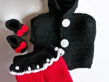 Minnie Mouse Baby Pattern, Girls clothing set, Cute baby clothes, Vest for girls with pants