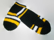 Boston Bruins Mitten Pattern