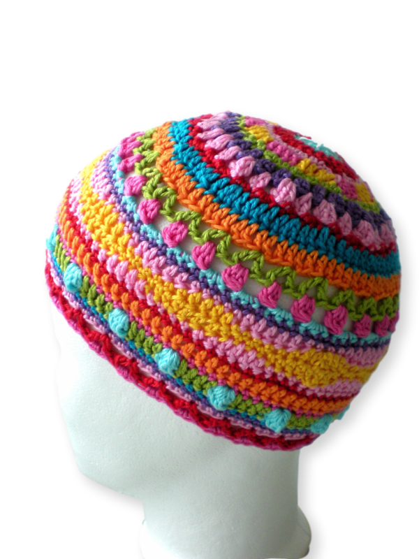 Crochet Hat Sizes : Hat Cap Crochet Pattern 2 sizes Baby Toddler