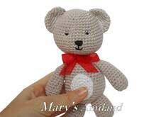 Tino Bear the Ami - Amigurumi Crochet Pattern
