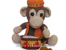 Arthur Monkey The Ami - Amigurumi Crochet Pattern - Digital Download