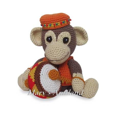 Original Little Bgfoot Monkey Free Crochet Pattern | Crochet ... | 450x450