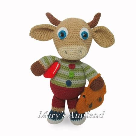 Crochet Cow PATTERN, Crochet Cow Amigurumi, Easy Crochet Pattern ... | 450x450