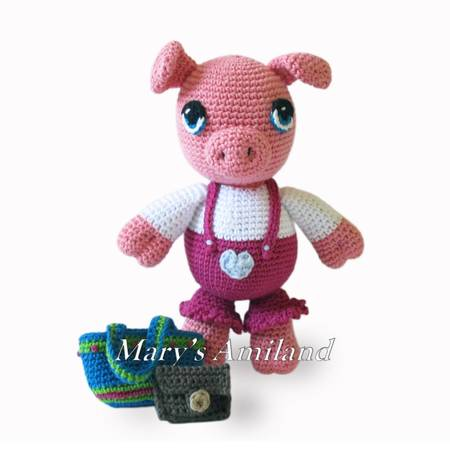 Patty Pig The Ami - Amigurumi Crochet Pattern - Digital Download