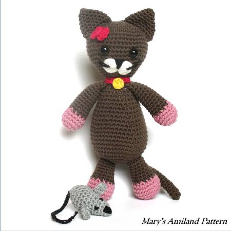 Minou Cat The Ami - Amigurumi Crochet Pattern - Digital Download