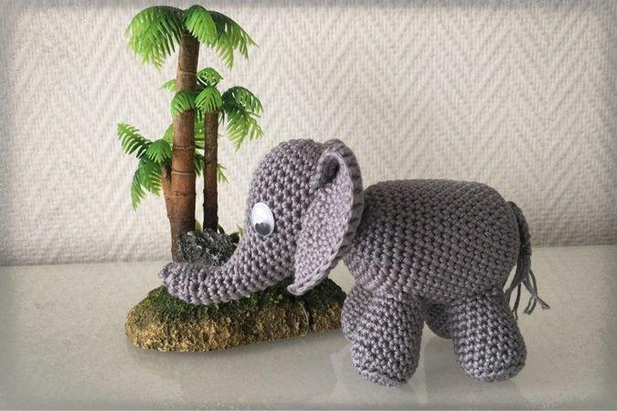 Elefant Häkeln Amigurumi Deko Häkeln