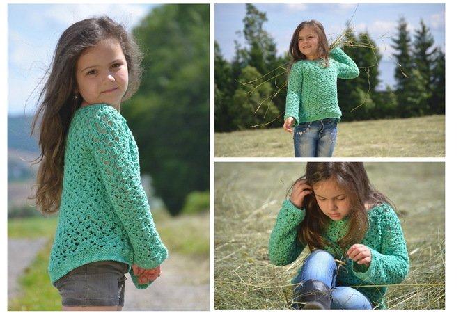MILA - Sommerpullover häkeln in 16 Größen, Shirt, Pullover ...