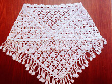 Triangular Shawl Pattern, Easy Crochet Scarf, Lacy Wrap Pattern