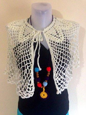 Crochet Bridal Poncho Pattern Capelet Pattern Poncho Crochet Us Uk