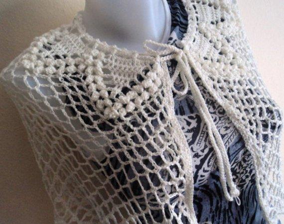 Crochet Bridal Poncho Pattern, Capelet Pattern, Poncho Crochet, US, UK