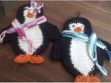 Patty & Pete Penguin Potholders
