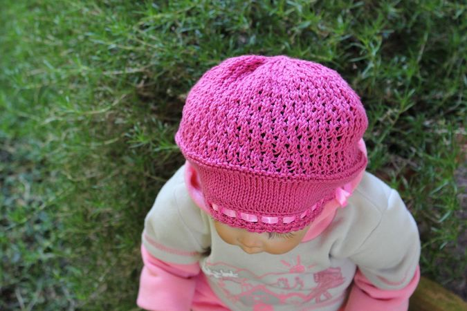 Hydrangea Baby Hat Knitting Pattern
