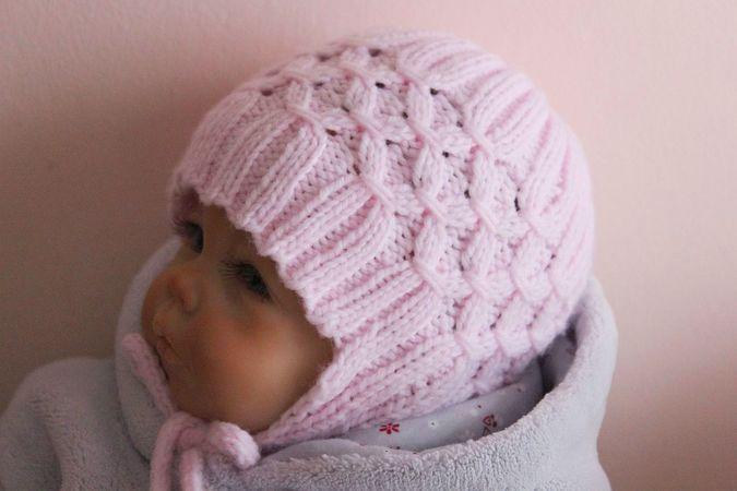 317eb23efd5 Baby Earflap Hat Knitting Pattern