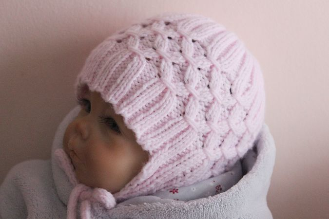 Baby Earflap Hat Knitting Pattern : Baby Earflap Hat Knitting Pattern