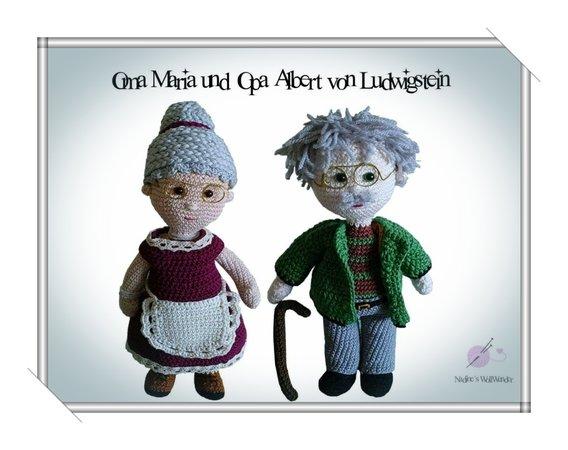 Häkelanleitung: Oma Maria und Opa Albert von Ludwigstein