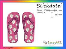 "Stickdatei ""Flip Flops"" Pes Format (Deco, Brother, Babylock)"