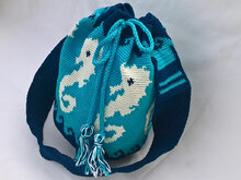 "Crachet Pattern Bag ""Sea Horse"""