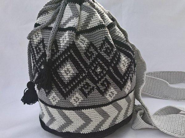 Rucksack häkeln // Beutel-Tasche häkeln