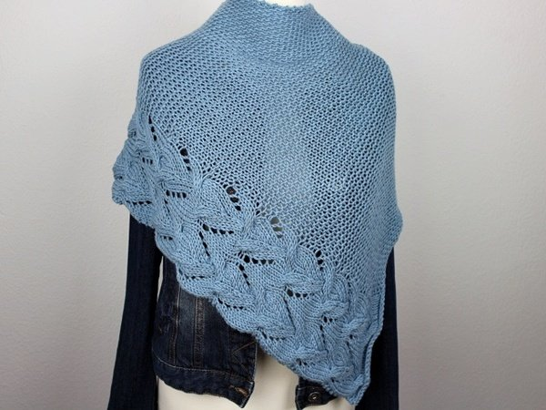 "Knitting pattern shawl ""Jeans"""