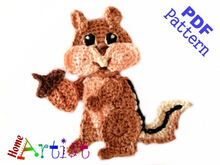 Chipmunk crochet pattern