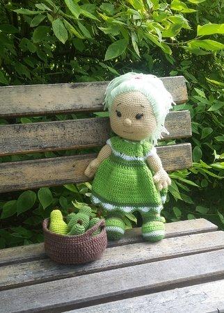 Puppe häkeln / Sommer- und Obstmotiv