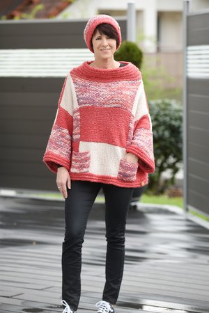 Oversize-Pulli aus Woolly Hugs Sheep