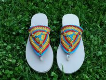 "Crochet Pattern Flip Flops ""Tornado"" - all sizes"