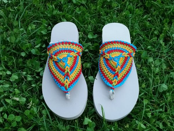 Crochet Pattern Flip Flops Tornado All Sizes