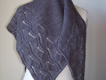 "Knitting pattern shawl ""The young Mouse"""