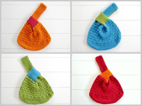 Tasche stricken // japanische Knotentasche