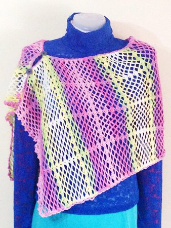 Pattern Crochet Lace Wrap Easy Scarf Pattern Summer Shrug Lace