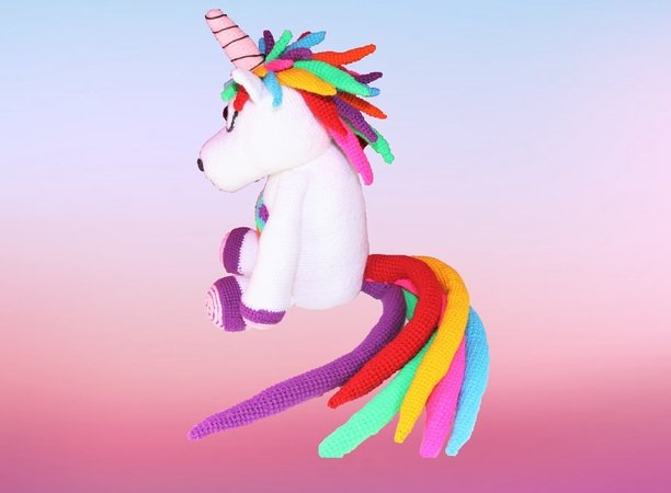 Big and Fluffy Rainbow Unicorn