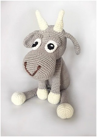 Goat crochet pattern Dutch and English described