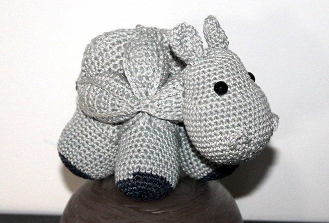 Amish Puzzle Ball Nilpferd