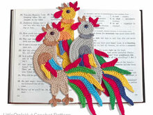 123 Crochet Pattern - Rooster decor or bookmark - Amigurumi PDF file by Zabelina Cp