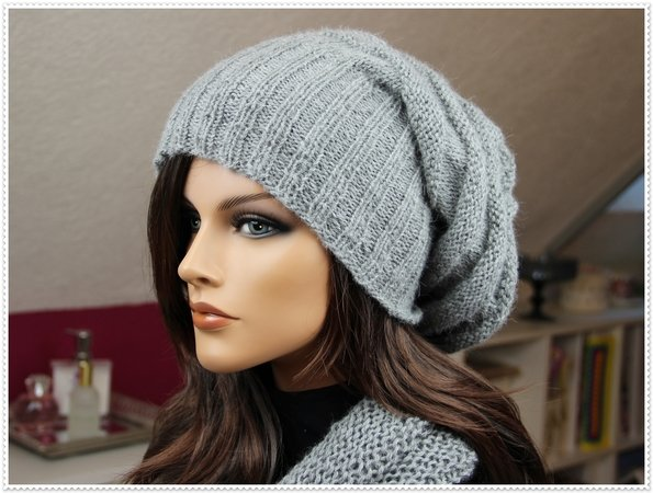 Modern Slouchy Hat with Scarf/Loop Scarf Pattern