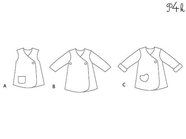 Baby Jacket Jacket Coat Tunic Wrap Dress Sewing Pattern Girls